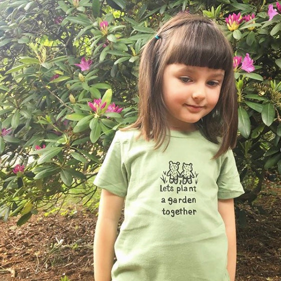 Let's Plant A Garden Kids Tee - Green