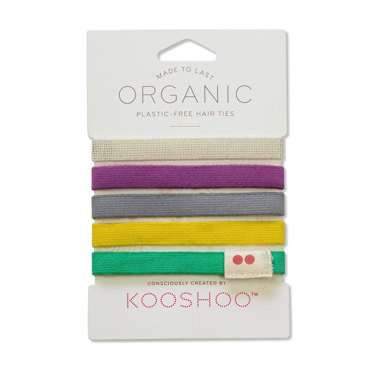 Organic Hair Ties - Colourful - The Grinning Goat