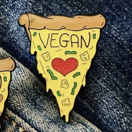 Vegan Pizza (with pineapples) Soft Enamel Pin - The Grinning Goat