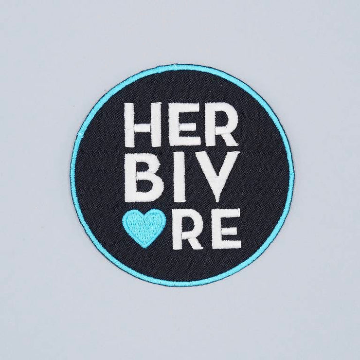Herbivore Circle Iron-On Patch - The Grinning Goat