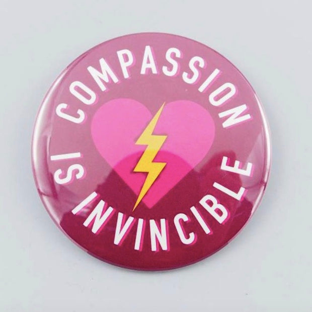 "3"" Compassion is Invincible Magnet - The Grinning Goat"