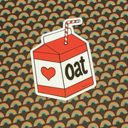 Oat Milk Sticker - The Grinning Goat