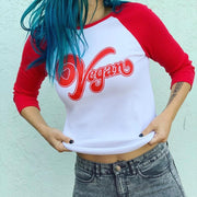 Vegan Heart Baseball Unisex Tee - The Grinning Goat