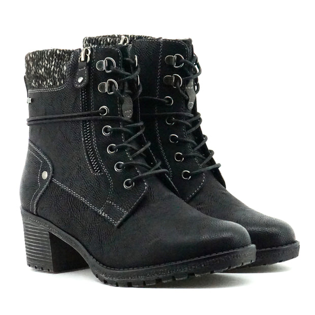 Camille Heeled Boots - Black - The Grinning Goat