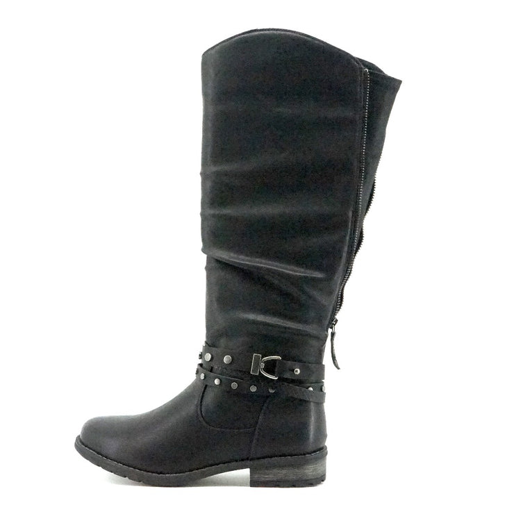 Zeynep Tall Boots - Black - The Grinning Goat