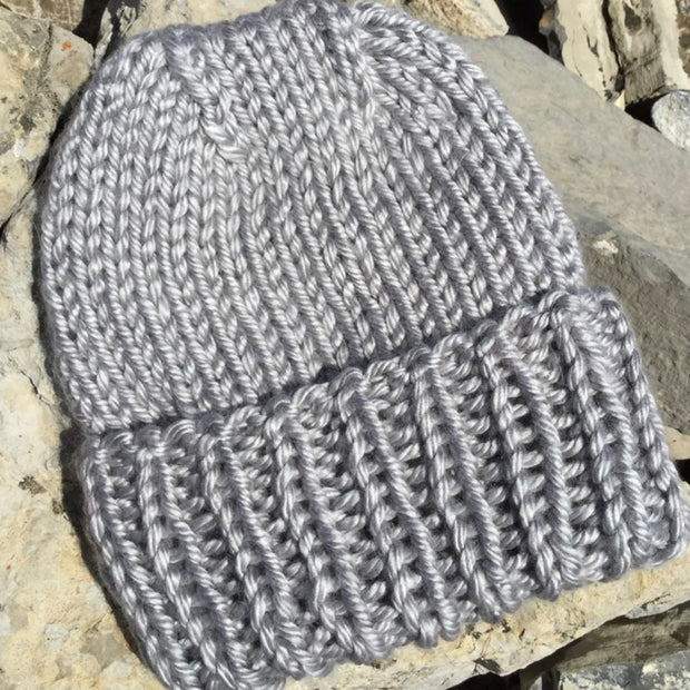 Knit Toque - Silver