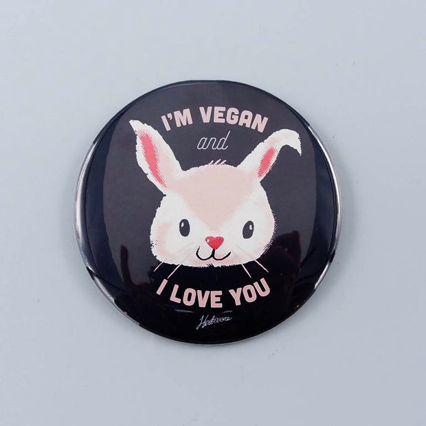 "3"" I'm Vegan and I Love You Magnet - The Grinning Goat"