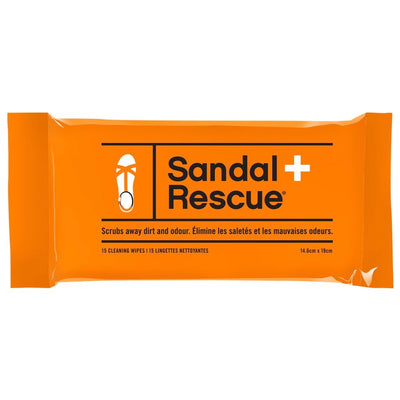 Sandal Rescue Wipes - Resealable Pack of 15