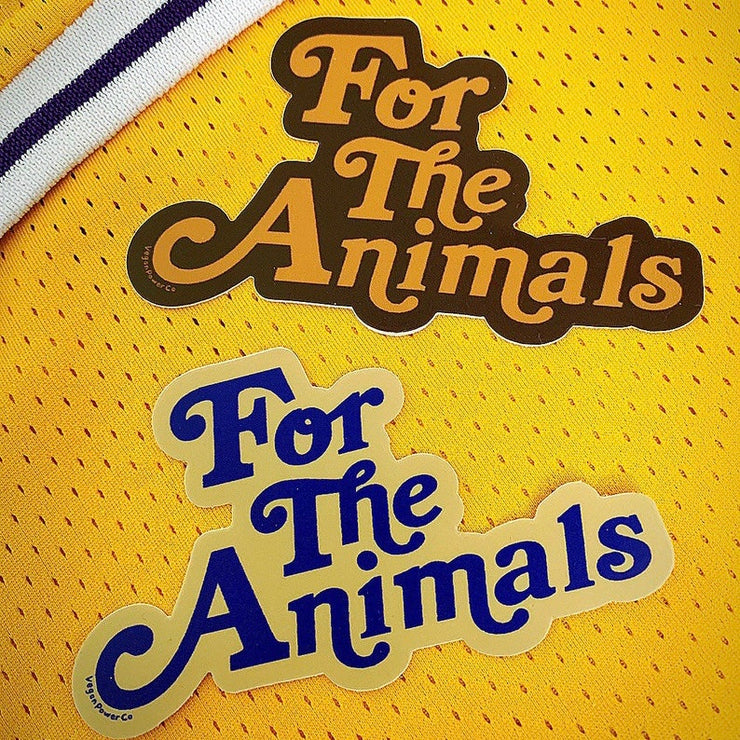For The Animals Sticker - The Grinning Goat
