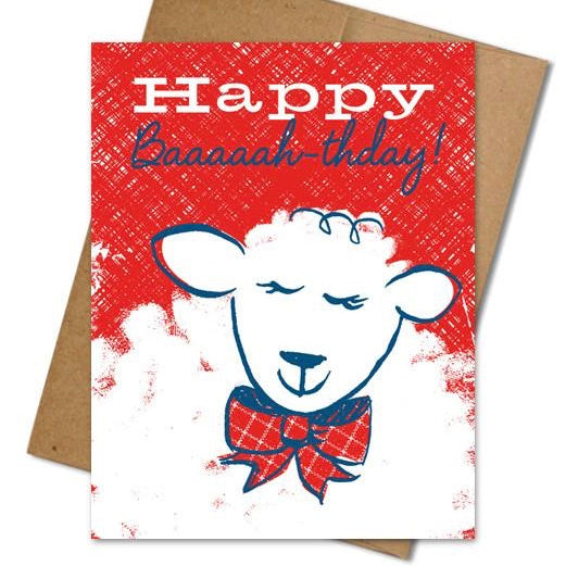 Baaah-thday Card - The Grinning Goat