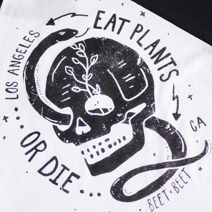 Eat Plants or Die Baseball Crop - The Grinning Goat