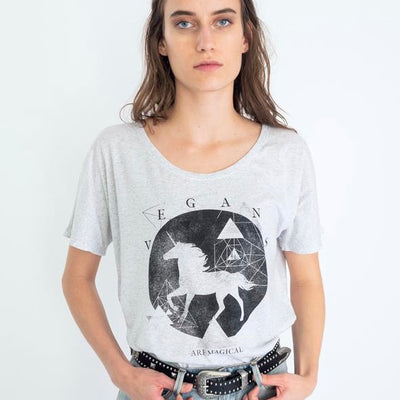 Unicorn Slouchy Tee - The Grinning Goat