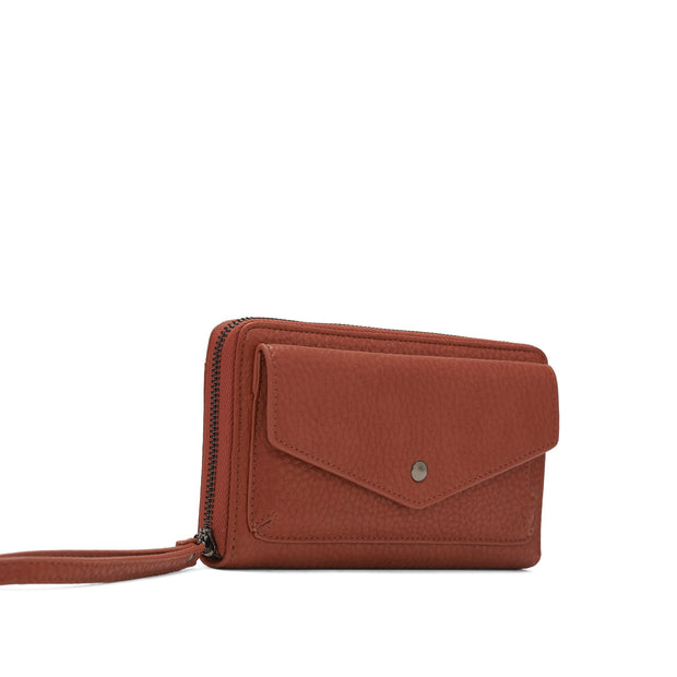 Pebble Clutch Wristlet - Pumpkin