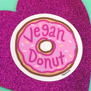 Vegan Donut Sticker - Pink