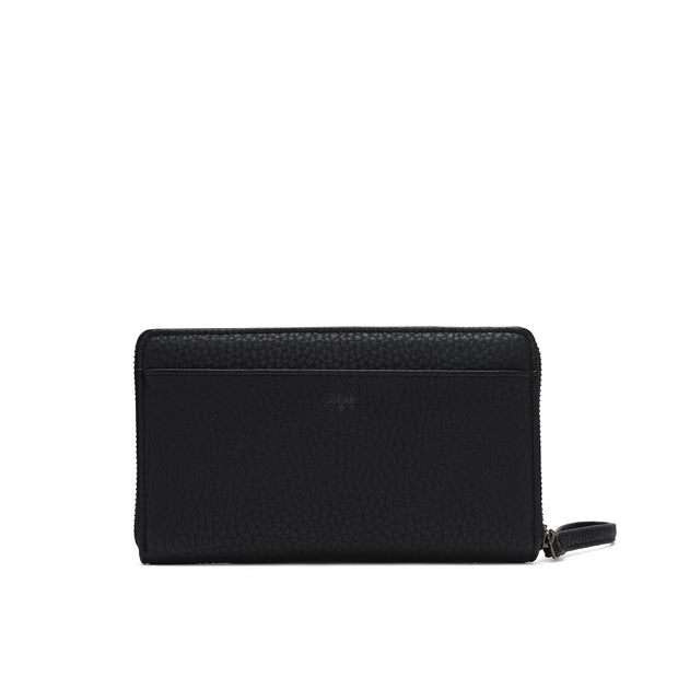 Pebble Clutch Wristlet - Black