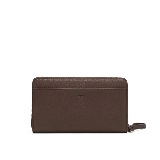 Pebble Clutch Wristlet - Oak