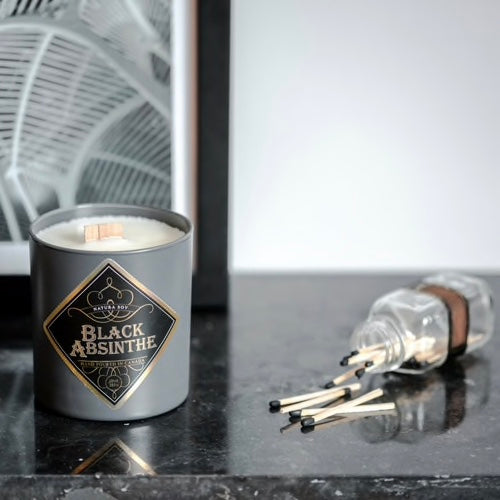 Black Absinthe Man Candle - The Grinning Goat