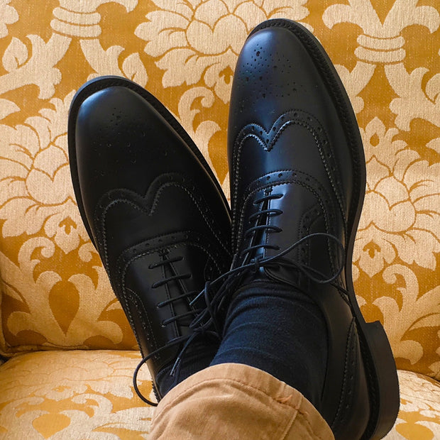 Montague Brogue - Black - The Grinning Goat
