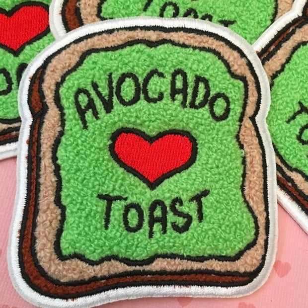 Avocado Toast Chenille Patch - The Grinning Goat