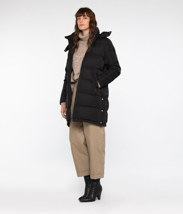 Giada Winter Puffer Coat - Black