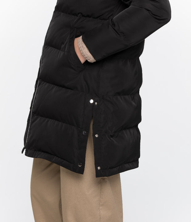 Giada Winter Puffer Coat - Black - The Grinning Goat