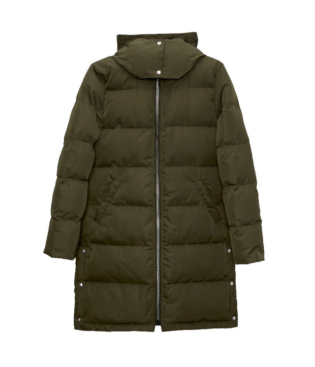 Giada Winter Puffer Coat - Olive - The Grinning Goat