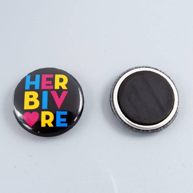 "Herbivore Circle 1"" Mini Magnet - The Grinning Goat"