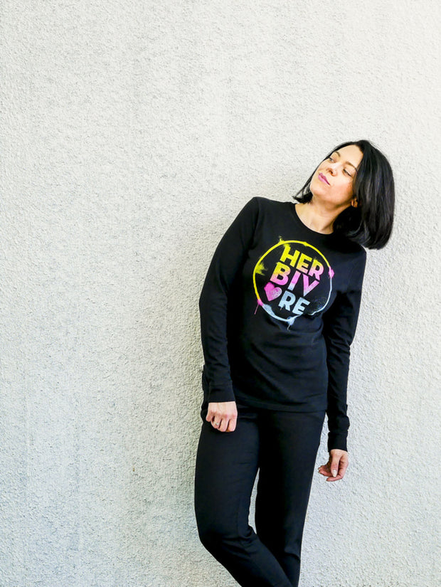 Herbivore Rainbow Circle Long Sleeve Unisex Tee - The Grinning Goat