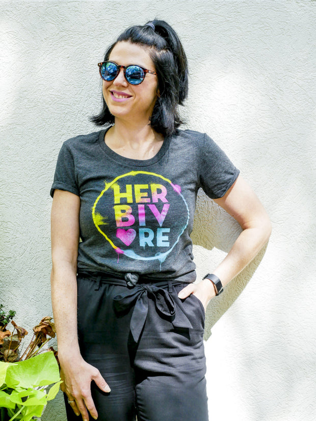 Herbivore Rainbow Circle Womens Tee - The Grinning Goat