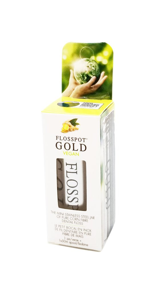 Flosspot Gold - Vegan Floss - The Grinning Goat