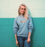 Vegan Retro Rainbow Unisex Crewneck Sweatshirt