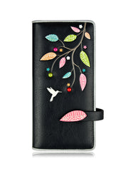 Tweet Long Wallet - Black - The Grinning Goat