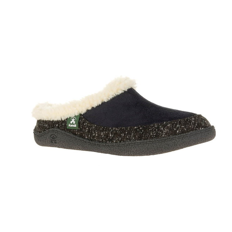 Nutmeg Slippers - Black/White - The Grinning Goat