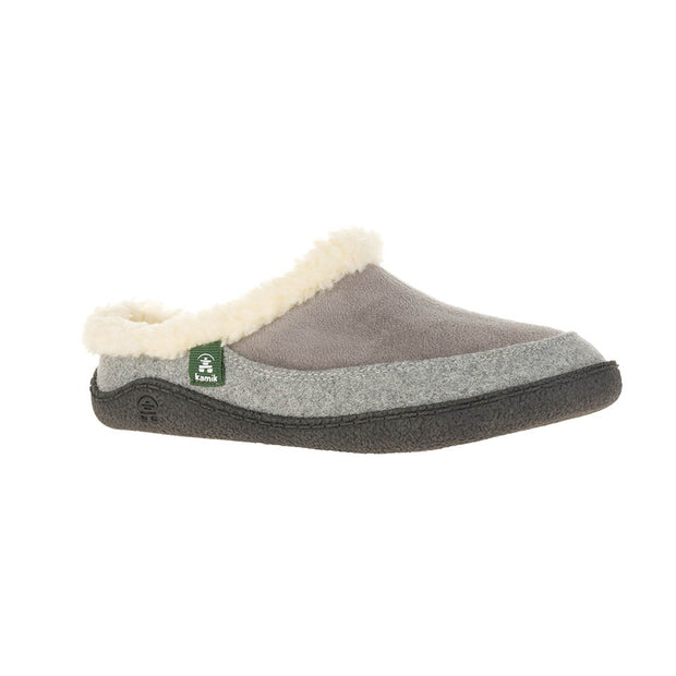 Nutmeg Slippers - Grey - The Grinning Goat