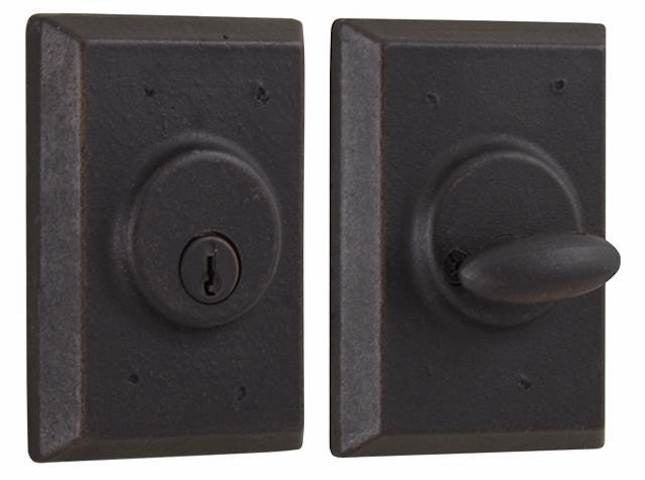 Weslock Molten Bronze Square Deadbolt Collection