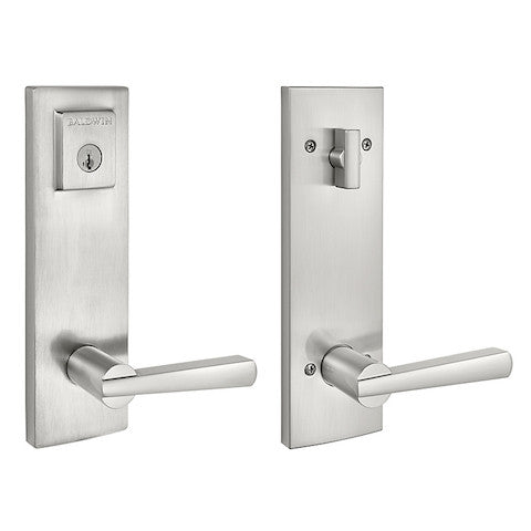 Baldwin Prestige Spyglass With Spyglass Entrance Set - Satin Nickel