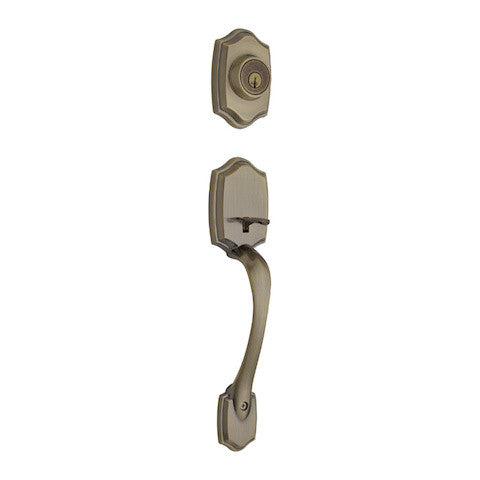 Kwikset Belleview Handleset - Antique Brass Collection
