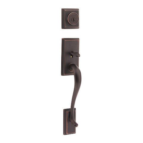 Kwikset Hawthorne Single Cylinder Handleset - Venetian Bronze Collection