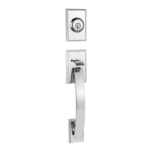 Kwikset Tavaris Single Cylinder Handleset - Polished Chrome Collection