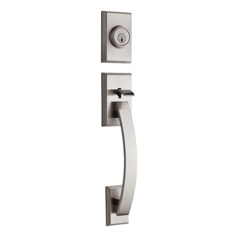 Kwikset Tavaris Single Cylinder Handleset - Satin Nickel Collection