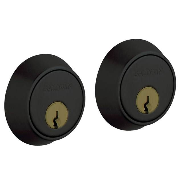 "Baldwin Estate 8011 Contemporary Double Cylinder Deadbolt 1 5/8"" Door Prep"