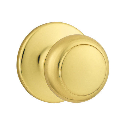 Kwikset Chelsea Single Cylinder Handleset - Lifetime Polished Brass Collection