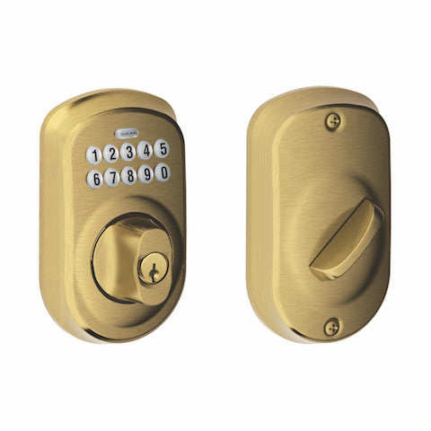 Schlage Keypad Deadbolt - Plymouth Collection
