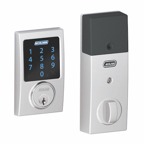Schlage Connect Deadbolt With Alarm - Century Collection