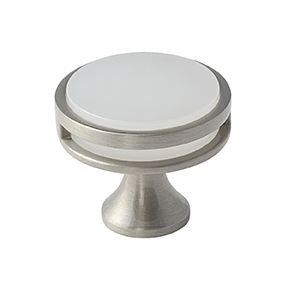 "Amerock Oberon 1 3/8"" Diameter Knob Frosted"