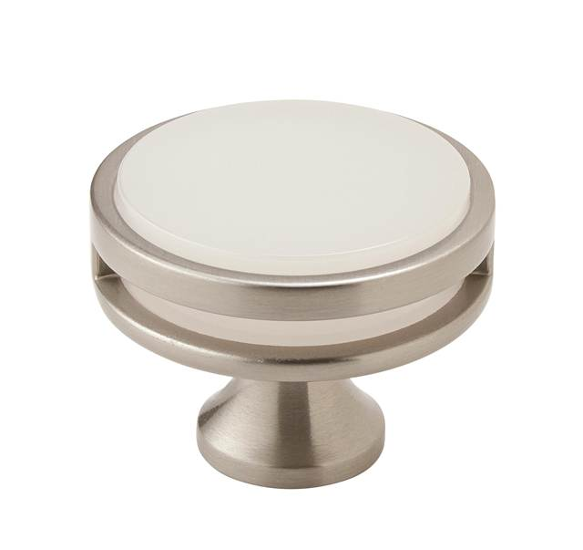 "Amerock Oberon 1 3/4"" Diameter Knob Frosted"