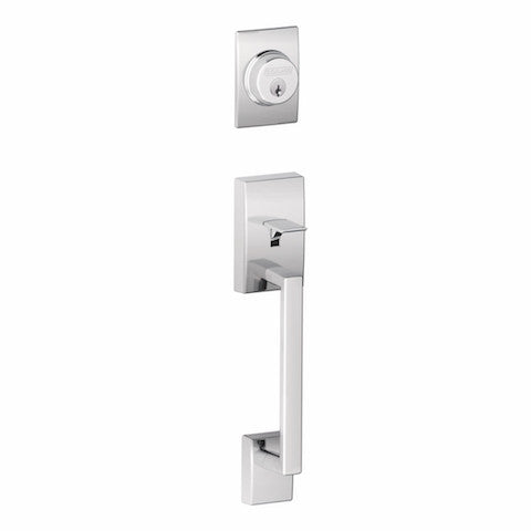 Schlage Century Single Cylinder Handleset - Bright Chrome Collection