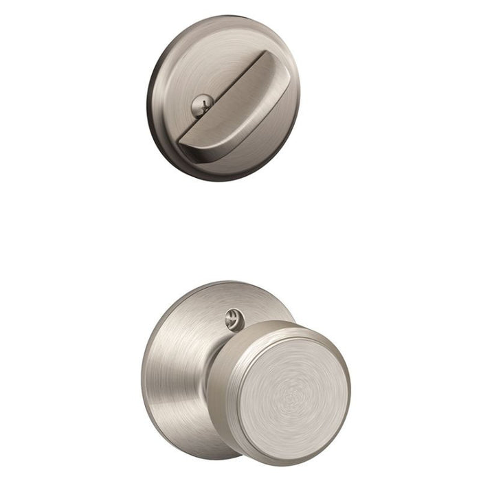 Schlage Greenwich Single Cylinder Handleset - Satin Nickel Collection
