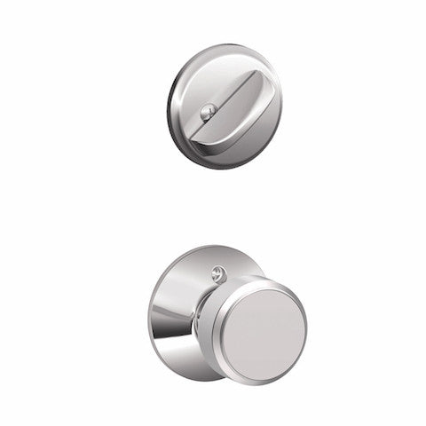 Schlage Camelot Single Cylinder Handleset - Bright Chrome Collection