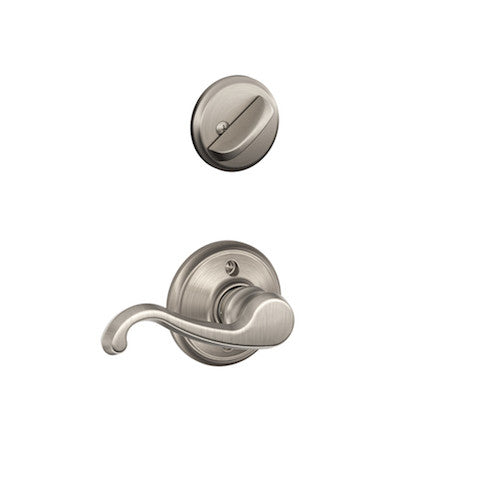 Schlage Addison Single Cylinder Handleset - Satin Nickel Collection